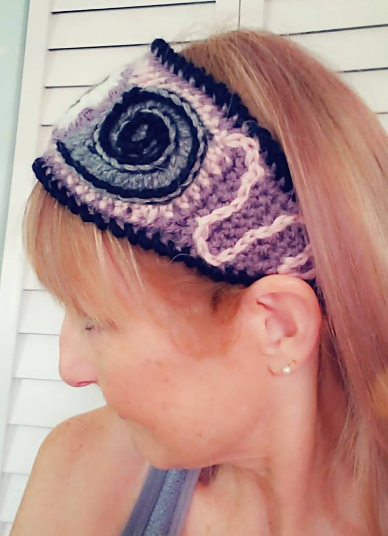 Evil eye third eye crochet headband image 0