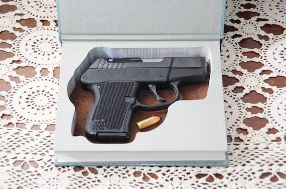 Ruger LCP LC9 LC380 Kel-tec P3AT, Hollow Gun Safe for Pistol Gun Hidden  Inside Book