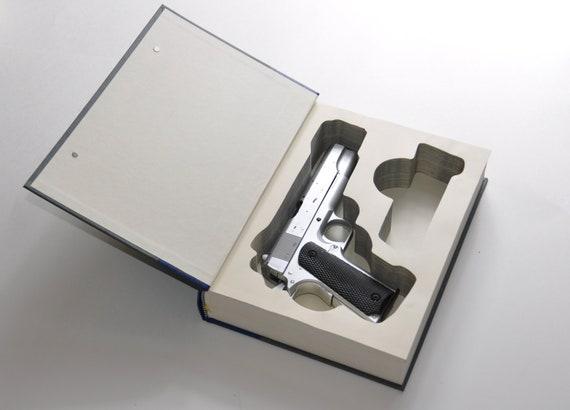 1911 Gun Book Safe for Colt, Springfield, Browning, Kimber, 9mm or  45  Caliber 5