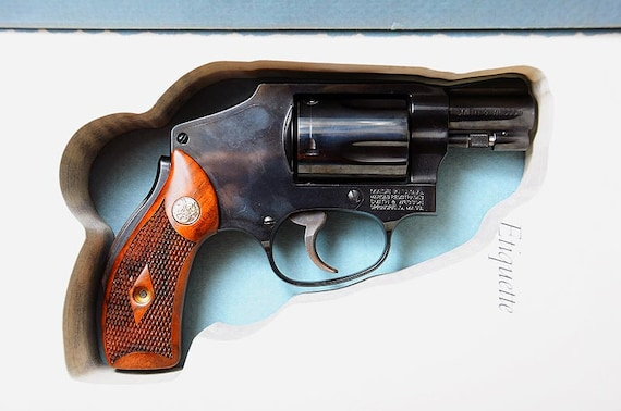 Hidden Book Safe for Smith and Wesson S&W, Taurus, and Ruger Snub-nose  Revolvers -  38 special,  22,  45 caliber