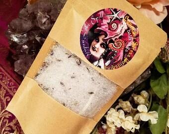 LAVENDER Stress Banishing BATH SALTS Aromatherapy organic all natural vegan dead sea herbal soak Spa Gift