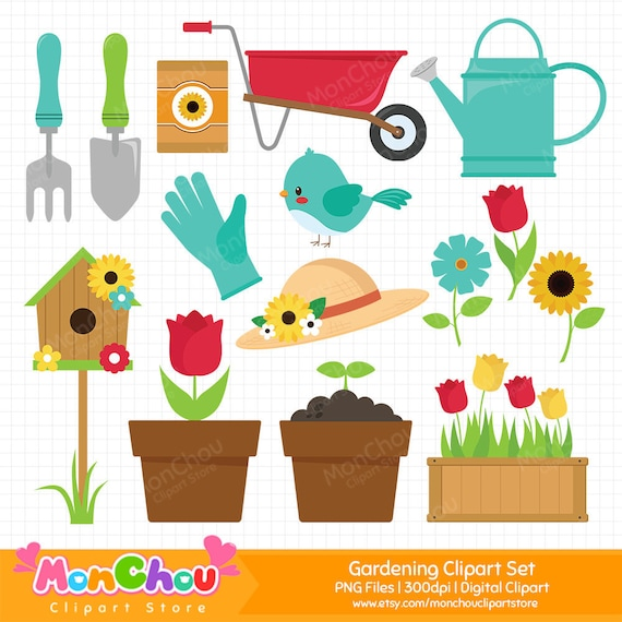 gardening clipart gardening tools clipart flower garden etsy gardening clipart gardening tools clipart flower garden clipart flower clipart commercial and personal use cliparts
