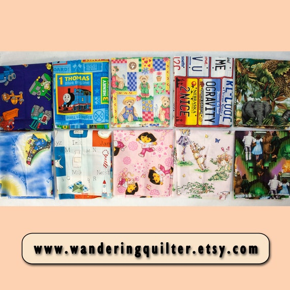 Fat Quarters Bundle of 10 assorted colours
