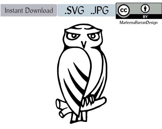 Chouette Cheveche Dessin Fichier D Art Vectoriel Svg Etsy