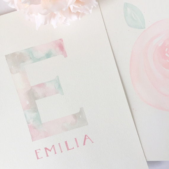 She/'s a Wildflower Pink Floral Watercolour Nursery Girls Room Print Wall Art BD1