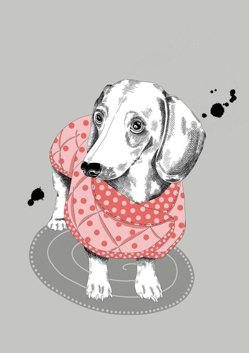 Sausage Dog Wall Art Sofia Butella