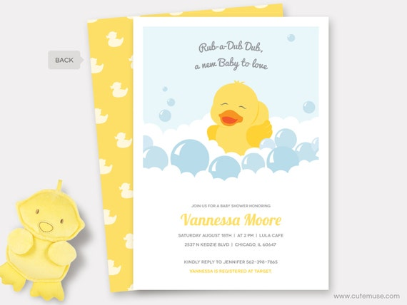 graphic regarding Rubber Duck Printable referred to as Rubber Duck Little one Shower Invitation Printable, Rubber Ducky