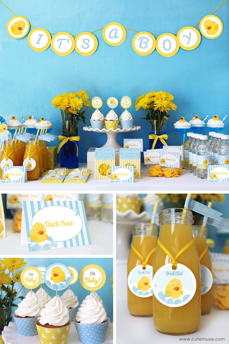 graphic relating to Printable Baby Shower Decorations referred to as Duck Kid Shower Decorations, Printable Little one Shower Get together Decorations, Rubber Ducky Social gathering Decorations Printable Bundle, Immediate Obtain