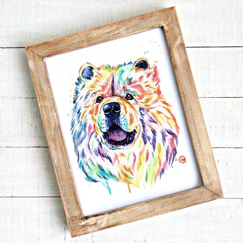 Chow Chow Dog Art Print Dog Decor Dog Memorial