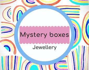 Rainbow Rose mystery box jewellery