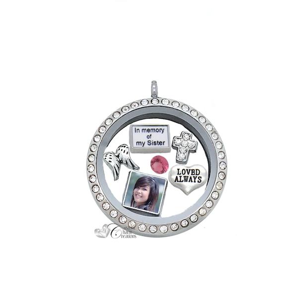 Little Sis  HGC1157-1 Floating Charm for Memory Glass Locket
