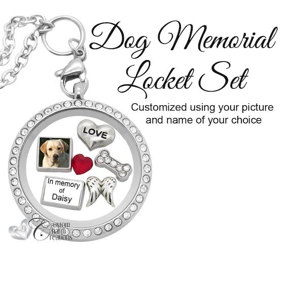 LOVE MY DOGS FLOATING CHARM FOR LIVING MEMORY LOCKET NECKLACE BRACELET UK}