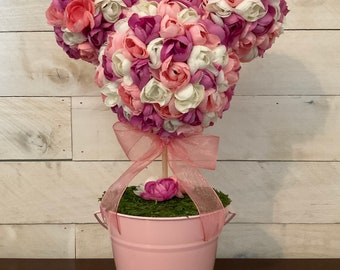Purple, Pink and White Mickey Shaped Floral Topiary, Table Centerpiece. Available now! *FREE SHIPPING*
