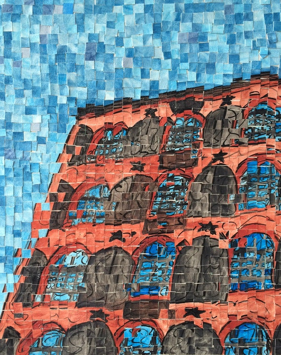 """New York City - Brooklyn -Red Hook Waterfront - Architectural Art: 16""""x20"""" Original Painting"""