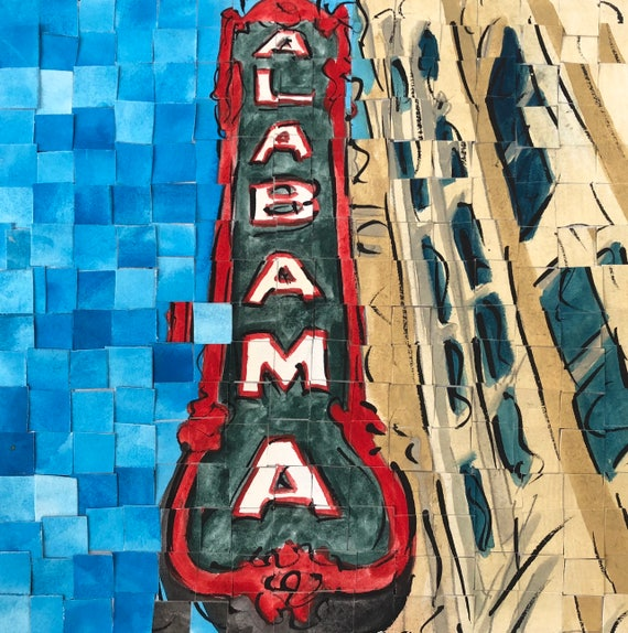 "Alabama Theatre - Birmingham, Alabama original Painting 8""x8"""