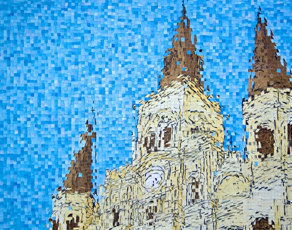 """New Orleans, Louisiana -St. Louis Cathedral - French Quarter - Architectural Art: 36""""x48"""" Original Painting"""