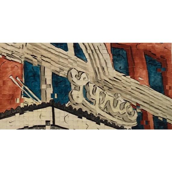 "Birmingham Alabama-Lyric Theater- Architectural Art: 10""x20"" Original Painting"