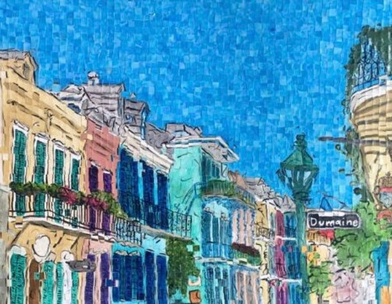 "New Orleans - French Quarter - Architectural Art: 30""x24"" Original Painting"