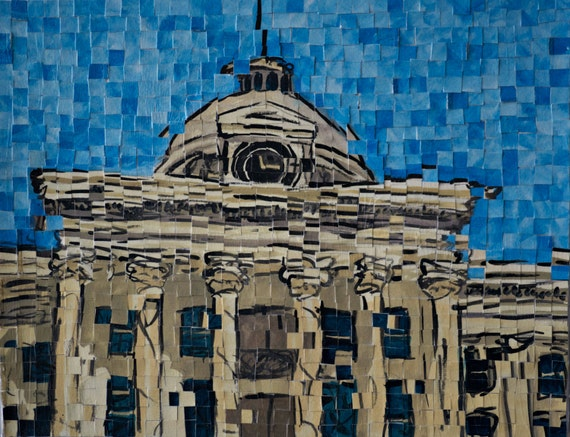 "Montgomery, Alabama - Alabama Capitol - Architectural Art: 14""x18"" Original Painting"