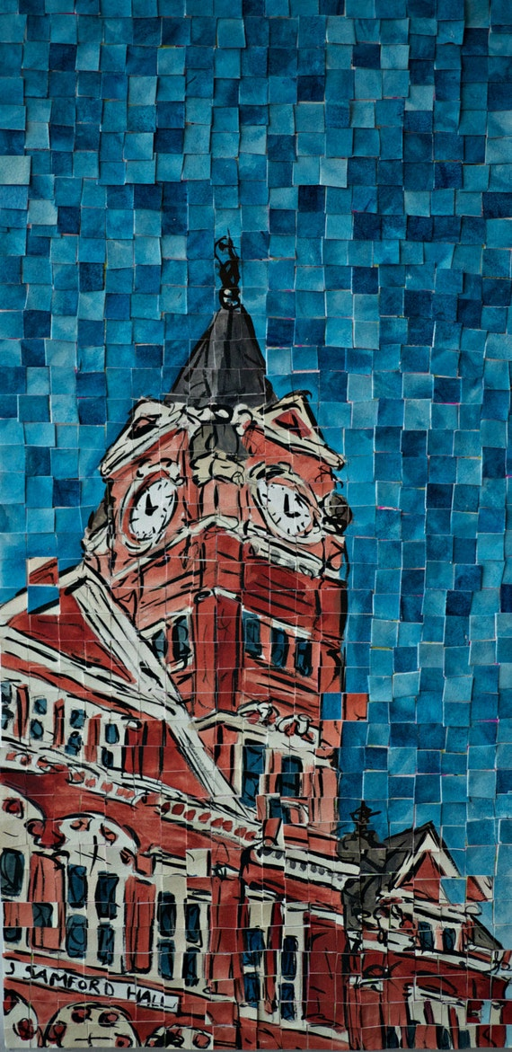 "Auburn University Samford Hall Architectural Art: 10""x20"" Original Painting"