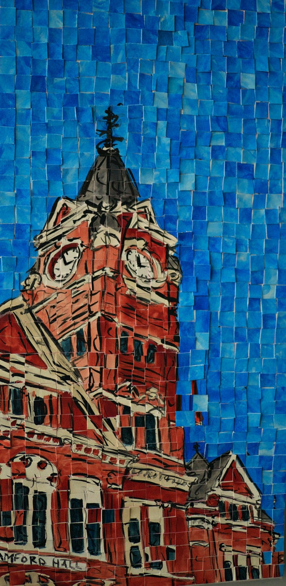 "Auburn University Samford Hall Architectural Art: 10""x20"" Original Painting"
