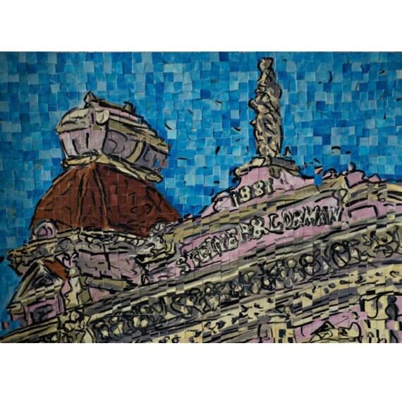 "Montgomery, Alabama - Downtown Montgomery -Architectural Art: 16""x20"" Original Painting"