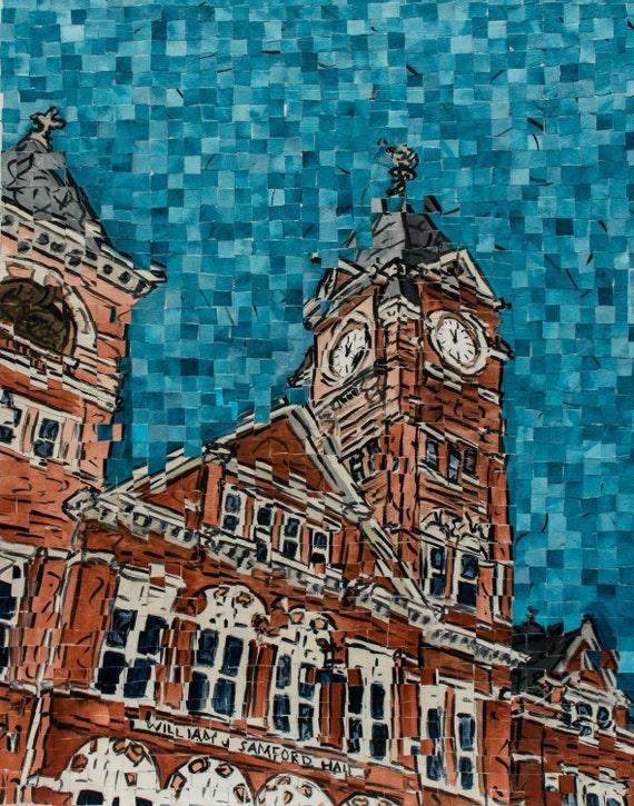 Auburn University Samford Hall Postcard