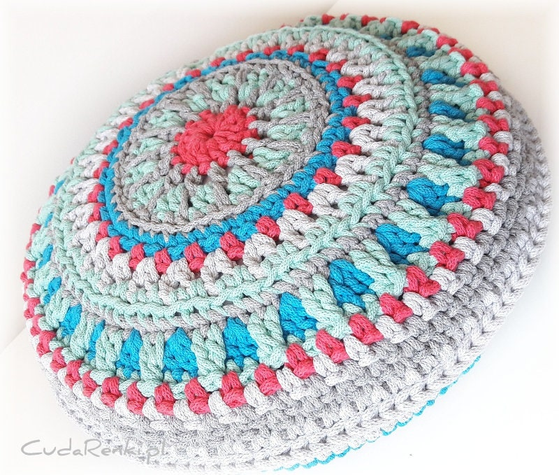 Mandala Pillow Multicolor Mandala Pillow Decorativ Mandala Etsy