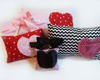 DIGITAL ITEM: Heart Pocket Pillow ITH Design 4x4 and 5x7 Hoop