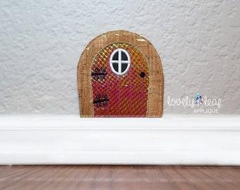 DIGITAL ITEM: Fairy Door in the hoop embroidery design 4 SIZES
