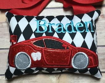 DIGITAL ITEM:  Race Car Tooth Fairy Pillow ITH Design 5x7 Hoop
