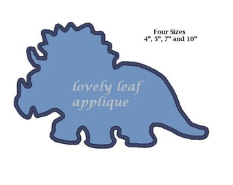DIGITAL ITEM: Triceratop Dinosaur Silhouette in 4 SIZES