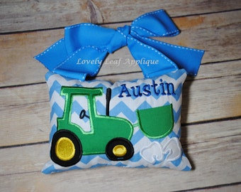 DIGITAL ITEM: Tractor Tooth Fairy Pillow ITH Design 5x7 Hoop
