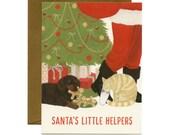"Dog & Cat Christmas/Holiday Card - ""Santa's Little Helpers"" - ID: HOL036"