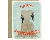 Woodpeckers Anniversary Card - ID: ANN073
