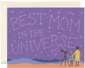"""Universe Mom Mother's Day Card  - """"Best Mom in the Universe"""" - ID: MOM214"""
