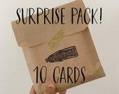 Surprise Pack of 10 Cards & Envelopes