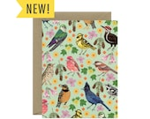Forest Birds Everyday Just Because Blank Stationery Card - ID: EV260