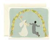 """Wedding Arch Newlywed Card - """"Congratulations"""" - ID: WED027"""