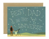"""Universe/Constellation Father's Day Card - """"Best Dad In The Universe"""" - ID: DAD082"""