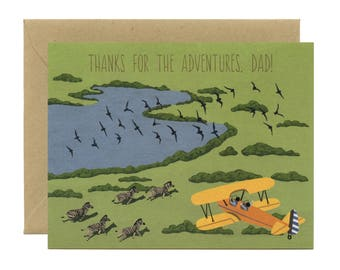 """Adventure Dad Father's Day Card - """"Thanks for the Adventures, Dad!"""" - ID: DAD141"""