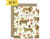 """Big Cats Galore Birthday Card - """"Happy Birthday!"""" - ID: BIR255"""