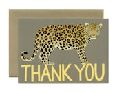 """Leopard Thank You Card - """"Thank You"""" - ID: TY098"""