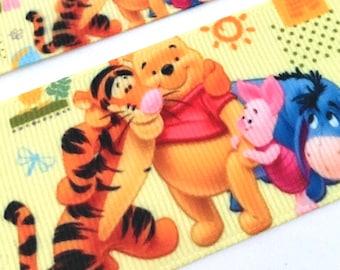 Winnie The Pooh Bear  Woven Silk Patch