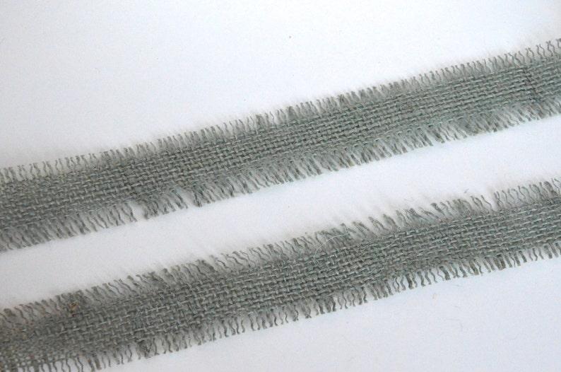 Gray ribbon,jute ribbon,mesh ribbon,burlap ribbon,ribbon by the yard,scrapbooking ribbon,frayed ribbon,embellished ribbon,155