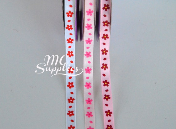ORGANDY WIRED RIBBON 2YDS DOLL CRAFT MILLINERY ~ RED