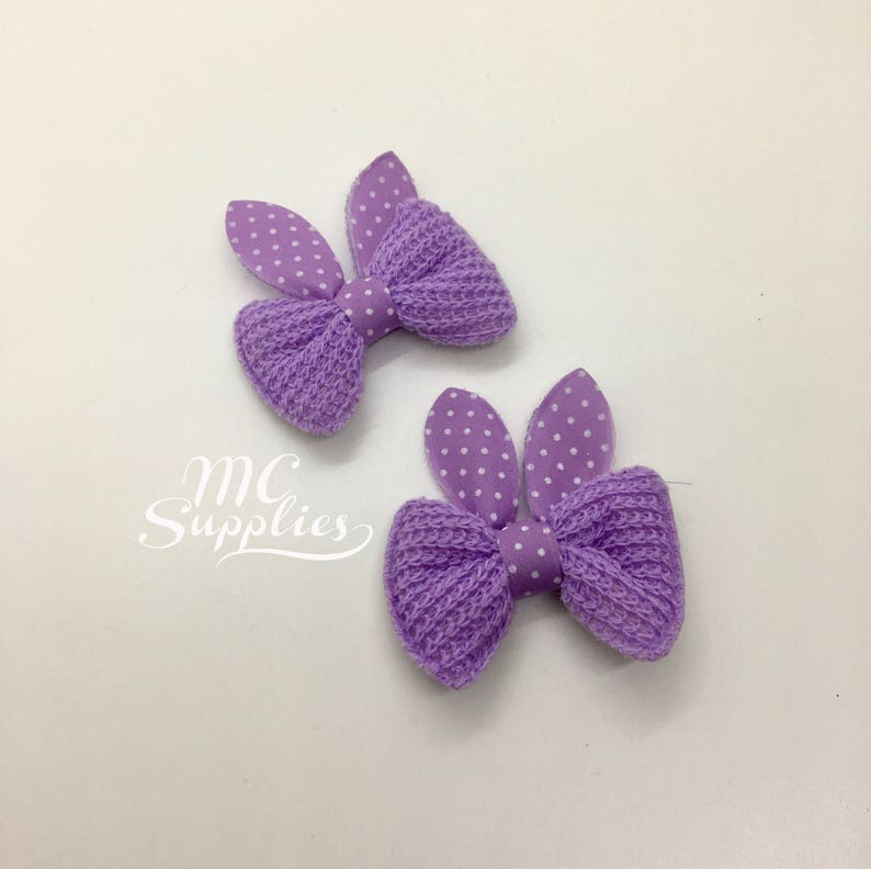 Purple bows,knit bow,fabric bows,bow applique,baby bows,yarn bows,easter bows,bows for clips,headband bows,hair clip bow,bow for favors,178