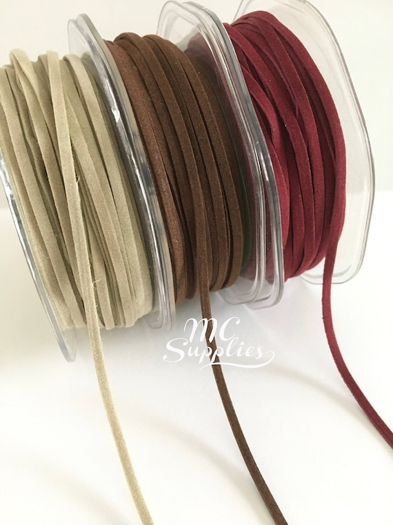 5 yds,Suede string,craft ribbon,ribbon for craft,ribbon for bows,tassel stringl,suede ribbon,ribbon by the yard,ribbon,fabric ribbon,77