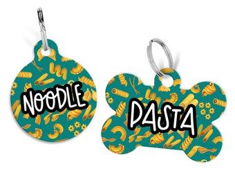 Dog Name Tag, Dog ID Tag, Pet ID Tag, Personalized Dog ID Tag, Noodle Dog Tag, Pasta Name Tag, Personalized Pet Tag, Custom Puppy Name Tag