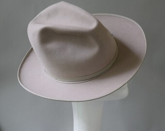 c7ea2acf Stetson Open Road Vintage 50s Silver Gray Fedora Hat 6 7/8